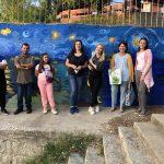 """Oslikavanjem murala """"Zvezdana noć nad Vlasinom"""" počelo uređenje vlasotinačkog keja"""